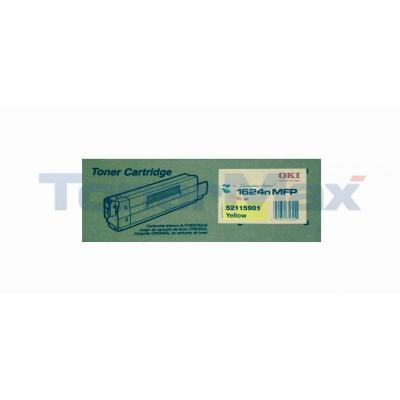 OKIDATA 1624N TONER YELLOW
